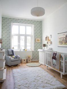 Aidan's Dreamy Room in Germany#aidans #dreamy #germany #room Boys Bedroom Wallpaper, Baby Nursery Wallpaper, Baby Nursery Decor, Babies Nursery, Kindergarten Wallpaper, Ideas Hogar, Baby Boy Rooms, Baby Girls, Carpet Design