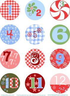 Números para calendario de Adviento