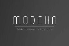 Modeka – Free Modern Font