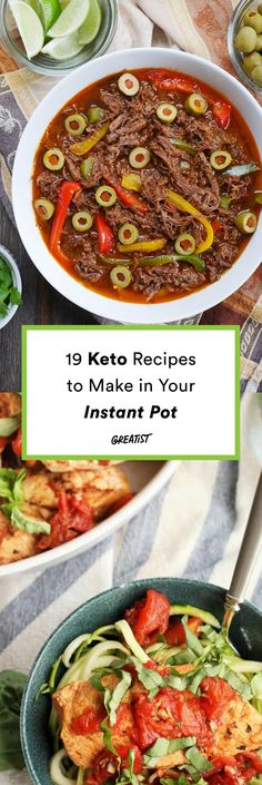 Low-maintenance low-carb meals for when you're short on time.  #greatist https://greatist.com/eat/keto-recipes-to-make-in-an-instant-pot