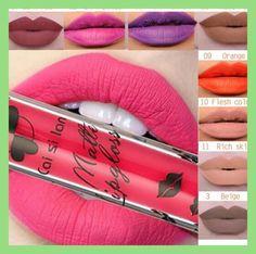women 2017 new lipstick color silk blue matte liquid waterproof lip gloss lasting do not fade color makeup 12 color