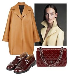 Mustard and burgundy by stefania-fornoni on Polyvore featuring polyvore, fashion, style, Rochas, Topshop, Chanel, burgundy and mustard