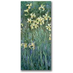 Trademark Fine Art The Yellow Irises Canvas Wall Art by Claude Monet, Size: 18 x 32, Multicolor