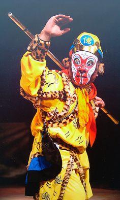 SIchuan Opera, Monkey > Aw ya! Sun Wu Kong - Journey to the West: 1 of my top fav reads ever! http://yellowmenace8.blogspot.com/2015/01/art-sun-wukong-monkey-king.html