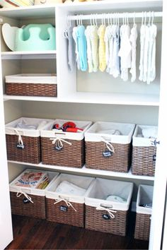 c76ca9685676 How to organize a small nursery closet ST192019 Decorating the baby  nursery  Try these tips