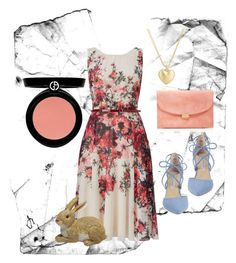 Happy Easter by teafortee on Polyvore featuring polyvore, fashion, style, Phase Eight, Kristin Cavallari, Mansur Gavriel, Finn, Armani Beauty and clothing