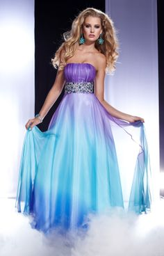 Pageant Dresses for Teens | Fantastic A-line Strapless Beaded Muti Color 2013 Long Chiffon Evening ...