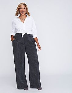 1e941ad08b48 This wide-leg pant features a micro (i.e.. Plus Size ...