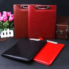 A4 notepad holder, pad holder leather cover