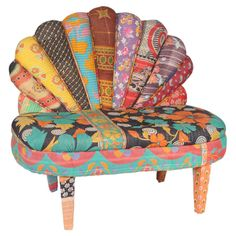 Taj Settee - Patchwork Couch / Chair #boho