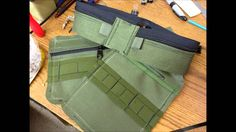 """Just finished this pouch tonight. 1000d Cordura, #8 coil zippers, 1"""" and 2"""" elastic, 1"""" webbing"""