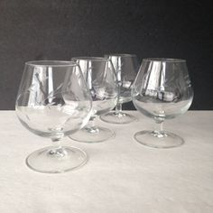 brandy snifters, vintage brandy glasses, Princess House Heritage crystal glasses, whiskey glasses, bourbon glasses, scotch glasses - pinned by pin4etsy.com