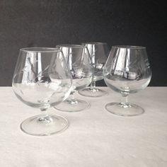 brandy snifters, vintage brandy glasses, Princess House Heritage crystal glasses, whiskey glasses, bourbon glasses, scotch glasses - pinned by pin4etsy.com