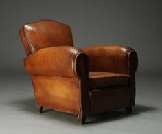 Art Deco Leather Armchair. @designerwallace