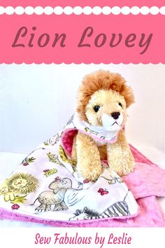 """Unique lovey for toddlers with generously sized blanket and stuffed lion!