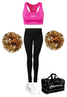 Chasity Daniels's Cheer Practice Outfit by elizabethcooke on Polyvore featuring polyvore fashion style adidas NIKE Asics