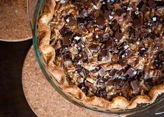 Salted Chocolate Pecan Pie. #recipe