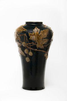 Vase mit Platanendekor | Auguste Delaherche | c.1892/93 | Museum Für Kunst Und Gewerbe Hamburg | CC0