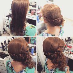 תסרוקת לצד שמשלבת צמה ותלתלים  עיצוב שיער - יפית קוריש 054-4536769 תסרוקת לצד שמשלבת צמה ותלתלים  redhair hairstyle Braid hairstyle