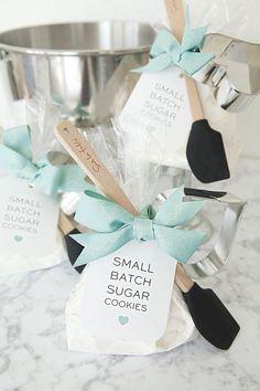 """DIY Small Batch Sugar Cookie Mix Favor... Add a mini-spatula and heart cookie cutter. Adorable gift/favor idea."""