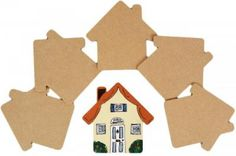 <br>MDF House Plaque.<br><br>Pack of MDF plaques in the shape of house. Lightweight plaque ideal for sticking on the door / wall.<br><br>Craft blank supplied plain ready to paint or decorate with acrylics, inks, poster paints, stamps, polymer clay, foam clay, decoupage (or Decopatch), papers, napkins, glitters, embellishment, beads and much more.<BR><BR>Ideal for home decor and childrens bedrooms.<br><br>14cm H x 14cm W x 0.3cm D<b...