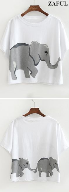 Up to 80% OFF! Loose Cotton Elephant Top. #Zaful #Swimwear #Bikinis zaful,zaful outfits,zaful dresses,spring outfits,summer dresses,easter,super bowl,st patrick's day,cute,casual,fashion,style,blouse, blouse outfit, crop tops, elegant outfits, floral blouse, lace tops, ladies tops, long sleeve tops, off shoulder blouse, off shoulder tops, pantsuit,sheer top, shirts, spring tops, striped shirts, summer tops, t shirts, tank tops, tees, teeshirts @zaful Extra 10% OFF Code:ZF2017
