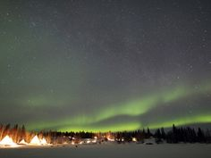 Aurora And Milky Way, Aurora Village, Yellowknife, Northwest Territories, Canada