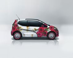 """Car wrap design.  For """"AVIS"""" car rent comapny in  Lithuania,  2012 ArtCar project.  Named """"Open me!"""". (1st place in contest)"""