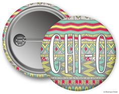 ChiO Chi Omega Aztec Sorority Greek Button by BoutiqueGreek