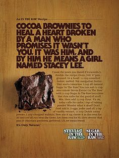 Brownies Heal Your Broken Heart - Sociological Images Raw Brownies, Cocoa Brownies, Copy Ads, Social Science Project, Mean Friends, Healing A Broken Heart, Swipe File, How To Double A Recipe, Copywriting