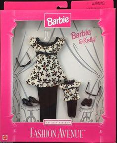 Barbie Kelly Fashion Avenue Matchin Styles Plaid Outfits 1998 Mattel for sale online Barbie Doll Set, Baby Barbie, Barbie Toys, Beautiful Barbie Dolls, Barbie Dress, Barbie Outfits, Vintage Barbie Kleidung, Vintage Barbie Clothes, Doll Clothes