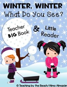 Little Reader with Teacher Book- Winter, Winter, What Do You See? Comprehension Activities, Teaching Activities, Classroom Activities, Teaching Resources, Teaching Ideas, Classroom Ideas, Winter Activities, Reading Comprehension, Christmas Writing