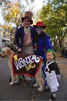 Charlie And The Chocolate Factory | 32 Family Halloween Costumes That Will Make You Want To Have Kids