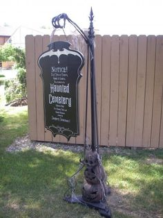 You will be able to locate spooky Halloween decorations to provide the ideal Halloween scare. It is truly the greatest holiday. Not every Halloween has to be dark and dreary! Halloween Prop, Halloween Graveyard, Spooky Halloween Decorations, Halloween Signs, Outdoor Halloween, Holidays Halloween, Halloween Crafts, Happy Halloween, Halloween Tombstones