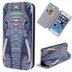 Special Grains Elephant Clear Pattern PU Full Body Case with Card Slot for iPhone 5/5S – CAD $ 7.27