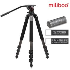 (498.80$)  Buy here - http://ai7wu.worlditems.win/all/product.php?id=32779595001 - Miliboo IronTower 25KG bear MTT702B Carbon Fiber professional camera Tripod stand MYT803 Fluid head half price of manfrotto