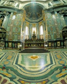 Interior of the Medici Tomb, Florence, Italy