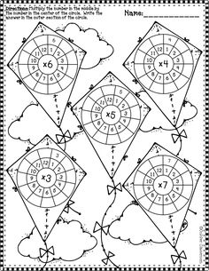 Times Tables Worksheets, Math Worksheets, Math Resources, Math Activities, Multiplication Wheel, Maths Puzzles, Math Numbers, 4th Grade Math, Math Stations