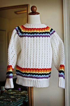 Sweaters CROCHET Rainbow magic