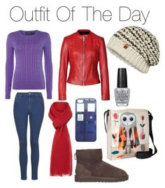 Outfit of the day by makaylla-alexander on Polyvore featuring Polo Ralph Lauren, Steffen Schraut, Topshop, UGG Australia, ONLY, Linea, OPI and Blue Q