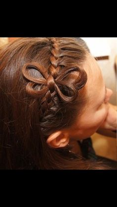 Butterfly in braid