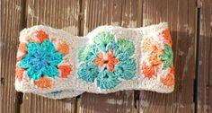 African Flower Headband | AllFreeCrochet.com