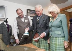 Royal visit to Harris Tweed. This photo makes me smile!