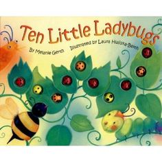 The perfect interactive counting book for young children.  One by one each little lady book disappears.  The children can feel their way through the book by counting how many lady bugs they feel. The book provides a hands-on learning experience, and it has rhyming text to help them remember how to count.