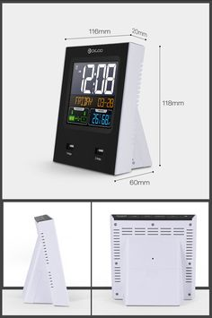 Digoo Time Calendar Format Switchable Temperature Humidity Display Dual Alarms Snooze Function NAP LED Backlight Alarm Clock with 2 USB Temperature And Humidity, Mother And Child, Bars For Home, Digital Alarm Clock, Smart Home, Home Textile, Housekeeping, Faucet, Party Supplies