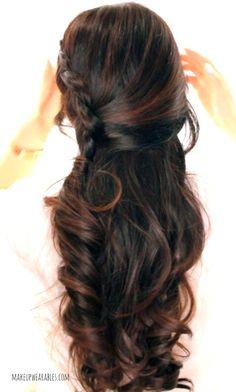 Crossover Braid Half-Updo Tutorial  | Easy Hairstyles