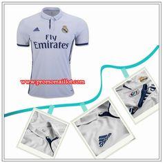 Les Maillot Real Madrid Domicile Blanc Adidas 2016 17 Avec Flocage e76733eda5627