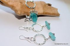 Cleveland Ohio beach glass necklace and earrings!!!!!