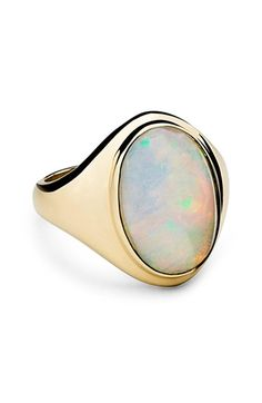 Free shipping and returns on Shinola Opal Signet Ring at Nordstrom.com. Designed with the same attention to detail as Shinola's artisan time pieces, this luminous 14-karat gold ring is centered with a cabochon opal. The striking accessory will stand the test of time and serve as an heirloom for generations to come.
