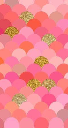 ピンクとゴールドのオリエンタル